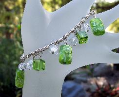 Millefiore Glass Dangle Bracelet