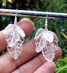 Sold  Crystal Leaves Earrings