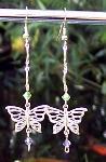 Sold   Swarovski Crystal & Butterfly Earrings