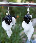 Black & White Glass Earrings