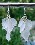 Sold Frosted Crystal Leaves Earrings