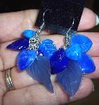 Blue Hearts Leave Earrings