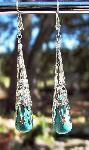 Sold Turquoise Silver Torch Earrings