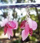 Pink Hearts & Leaves Earrings