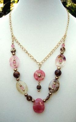 Sold  Volcanic Cherry Quartz Necklace
