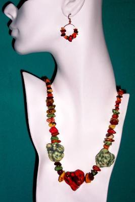 Sold Chunky Fruit Salad Necklace & Earring Set