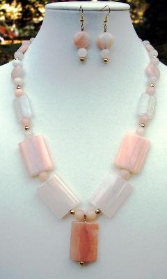 Hematoid Quartz Necklace & Earring Set