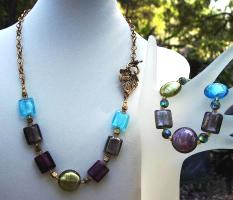 Sold   Wine Country Necklace & Bracelet Set