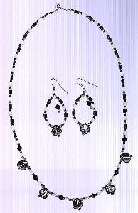 Czech Glass Necklace & Earring Set